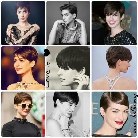 Short Hair, Anne Hathaway, Atrizes, Cabelinhos, Estilo S, Paixão