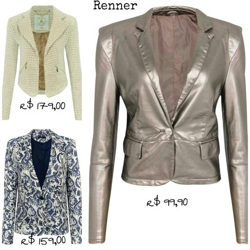 Estilo S, Desejo do Dia, Terninhos, Feminino, Moda, Fashion, Renner