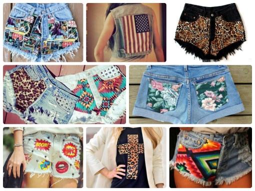 Estilo S, Quinta-Feira DIY, Shorts, Aplicação de Tecido, DIY, Moda, Inspiração
