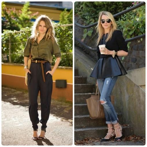 Dicas, O que vestir, silhueta retângulo, calça saruel, peplum, moda