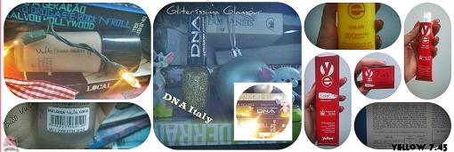 Estilo S, Últimas Comprinhas, 2013, Feliz 2014, Vult, Base líquida, DNA Italy, Esmaltes, Gliteríssima Glamour, Yellow, Pintei, Alfaparf