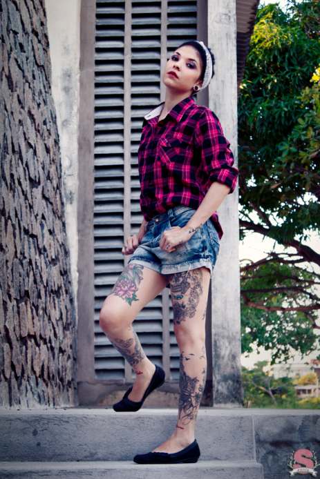 Editorial Rosies, Fashion&Beauty, Editorial de Moda, Moda, Rosies, Rosie the Riveter, Estilo S, Estilo, Tatuagem, Inspiração, Helena Maziviero