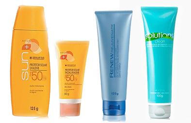 Cuidados com a Pele, Produtos AVON, AVON, Protetor Solar, Gel de Limpeza, Renew Rejuvenate, Renew, Creme removedor de maquiagem, Make Up, Solutions Clean