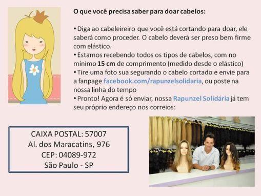 Utilidade Pública, Rapunzel Solidária, Solidariedade, Mulheres com Câncer, Doação Capilar, Cabelos