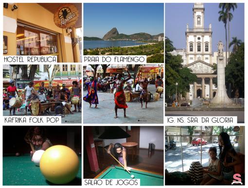 Diário de Bordo, Rio de Janeiro/RJ, RJ, Viagem Cultural, Hostel República, Largo do Machado, Ig. Ns. Sra. da Gloria, Kafrika Folk Pop, Descanso, Catete