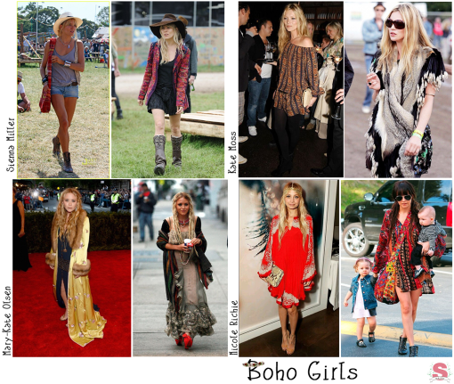 Fashion Trend, Tendência, Inverno, Sienna Miller, Kate Moss, Mary-Kate Olsen, Nicole Richie, Boho Girls, Boho Chic, Boho Romantic, Hippie, Étnico, Boêmio, Bohemian