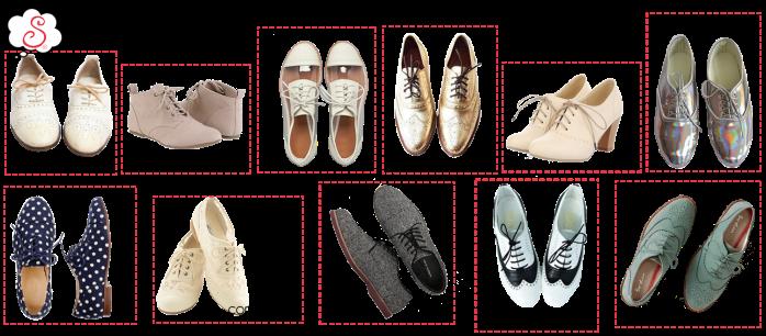 Estilo S, Desejo do Dia, Oxford Shoes, Oxford, Oxford tendência, versatilidade, tradicional, texturizado, metalizado, holográfico, com salto, com renda, com transparência, tipo bota, com estampa, bicolor, colorido