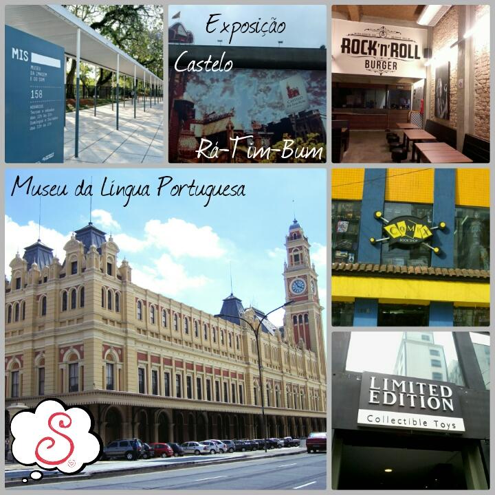 Estilo S, Diário de Bordo, SP, São Paulo, Viagens, MIS, Castelo Rá-Tim-Bum, Rock'n'Roll Burger SP, Museu da Língua Portuguesa, Limited Edition SP, Comix Book Shop SP, HQ