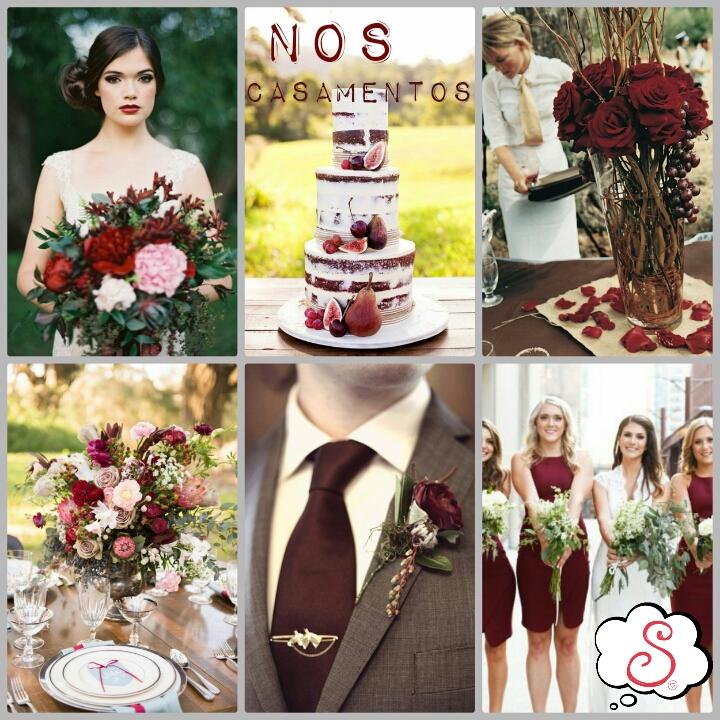 Estilo S, Pantone, Marsala, Cor de 2015, 2015, Casamentos, Weddings