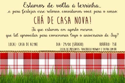 Convite, FB, Facebook, Chaversario, Aniversario, Cha de Casa Nova, Feito por Mim, DIY