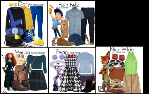 Leslie Kay, DisneyBound, Disney, Inspiração, Moda, Fashion, Looks, Criatividade, Dicas, Procurando Nemo, Dolly, Valente, Merida, Detona Ralph, Fix It Felix, Divertidamente, Medo, Zootopia, Nick