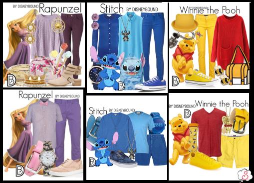 Leslie Kay, DisneyBound, Disney, Inspiração, Moda, Fashion, Looks, Criatividade, Dicas, Rapunzel, Stitch, Pooh