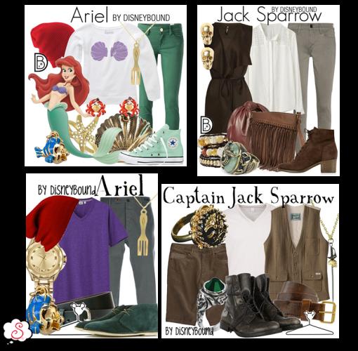 Leslie Kay, DisneyBound, Disney, Inspiração, Moda, Fashion, Looks, Criatividade, Dicas, Ariel, Jack Sparrow, Piratas do Caribe