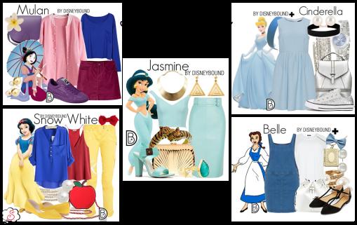 Leslie Kay, DisneyBound, Disney, Inspiração, Moda, Fashion, Looks, Criatividade, Dicas, Mulan, Branca de Neve, Snow White, Jasmine, Belle, Bela, Cinderela, Cinderelle