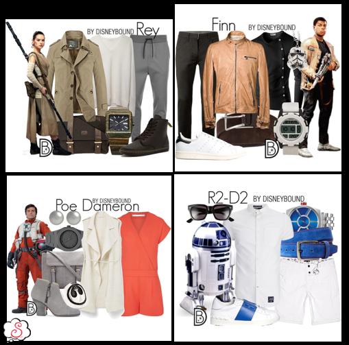 Leslie Kay, DisneyBound, Disney, Inspiração, Moda, Fashion, Looks, Criatividade, Dicas, SW, Star Wars, Rey, Finn, Poe Dameron, R2-D2
